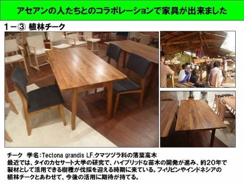アセアンの人たちとのコラボレーションで家具が出来ました(4)