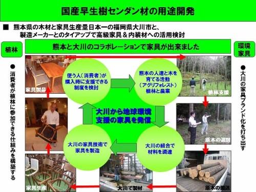 国産早生樹センダン材の用途開発